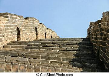 Great Wall China - Great Wall of China near capital Beijing...