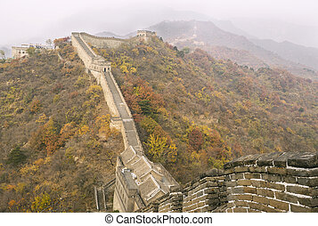 Great Wall during Autumn Season