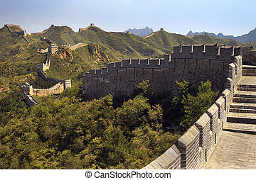 Great wall of China - China - The Great wall of China at...