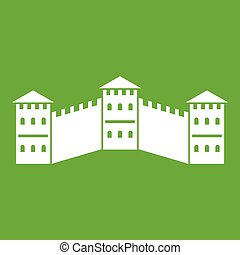 Great Wall of China icon green - Great Wall of China icon...