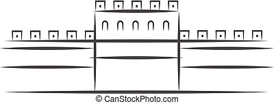 Great Wall of China icon vector from China collection. Thin line Great Wall of China outline icon vector illustration. Linear symbol for use on web and mobile apps, logo, print media