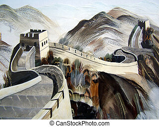Great Wall of China was made using birds feathers