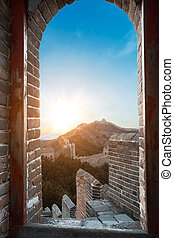 Great Wall outside door and the door at sun - The Great Wall...