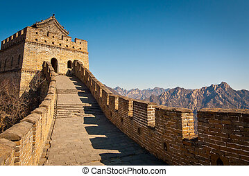 Great Wall - Restored Great Wall Tower at Mutianyu, near...