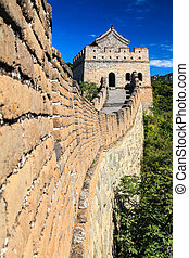 Great wall tower in China
