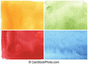 great watercolor background - watercolor paints on a rough...