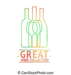 Great wine collection logo design