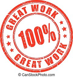 Great work vector stamp