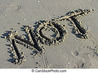 great written NOT on the sand of the Sea Beach