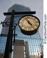 Greater street hours. - Greater street hours on a background...