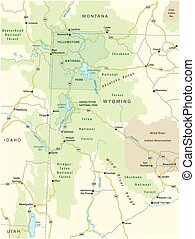 greater yellowstone area map