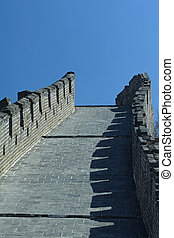 Greatwall - Great Wall of China with blue sky, Beijing Huang...