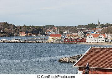 Grebbestad Sweden in springtime