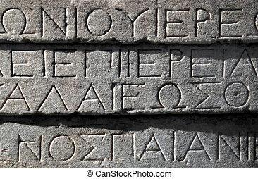 grec, écriture antique