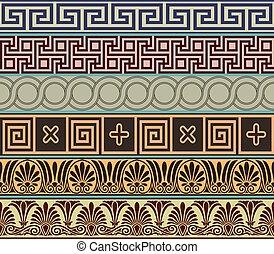 grec, ancien, conception