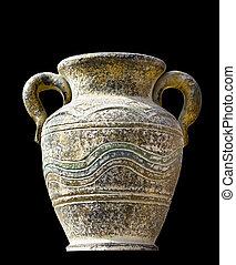 grec, ancien, copie exacte, cratère