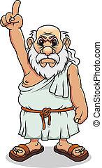 grec, ancien, homme