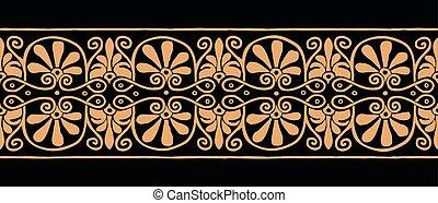 grec, ancien, ornament.