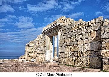 Grec, Ancien, ruines,  temple
