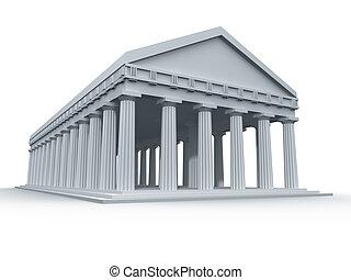 grec, ancien, temple