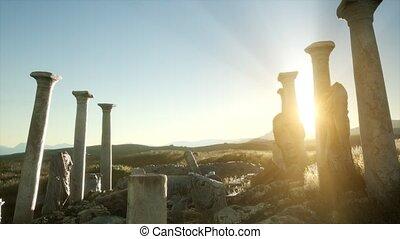 grec, ancien, temple, italie