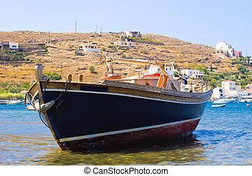 grec, bateau pêche