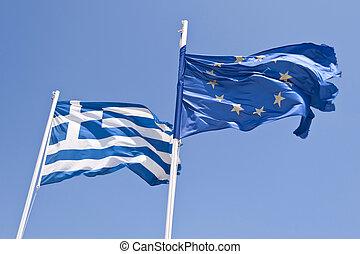 grec, et, drapeau européen