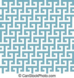 grec, géométrique, modèle
