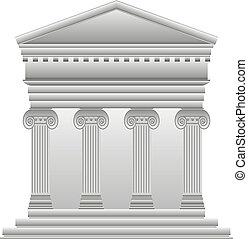 grec, ionique, temple