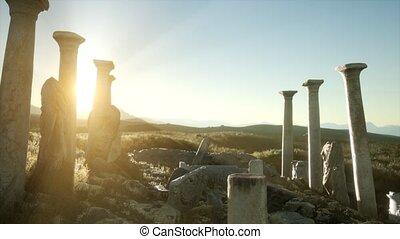 grec, italie, ancien, temple