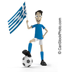 grec, joueur football