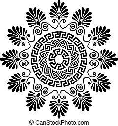 grec, méandre, vecteur, ornement