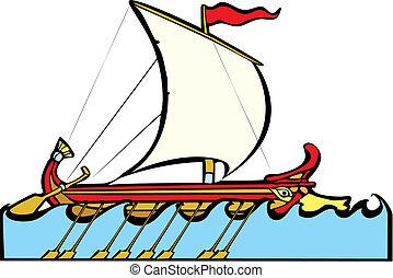 grec, navire guerre