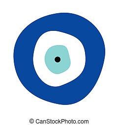Vecteur oeil symbole mal grec protection oeil - Symbole de protection ...