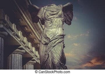 grec, samotracia, sculpture, victoire