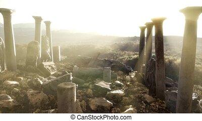 grec, temple, ancien, italie