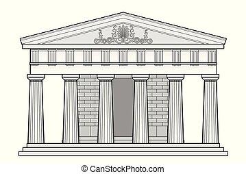 grec, temple, dorique