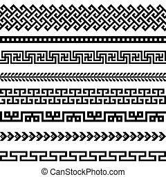 grec, vieux, frontière, conceptions