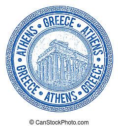 grecia, estampilla, atenas