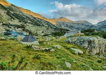 grecia, montagne, hdr, campeggio, pirin