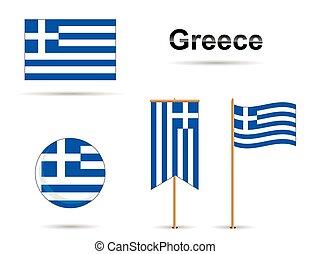 grecja, bandery