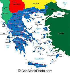 grecja, mapa