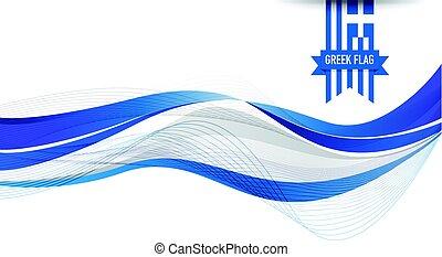 grecka bandera, tło