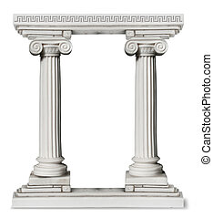 greckie kolumny, brzeg
