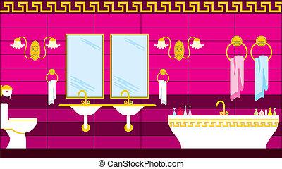 greco, bagno, stile