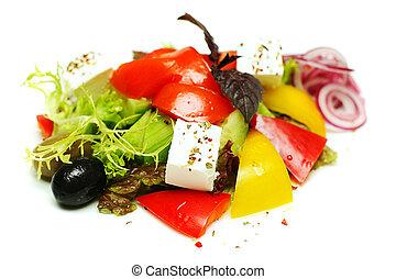 greco, bianco, insalata, fondo