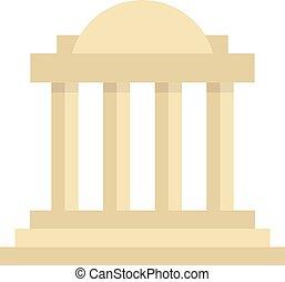 greco, colonnato, costruzione, con, colonne