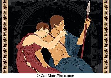 greco, persone., antico