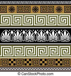 greco, profili di fodera, set