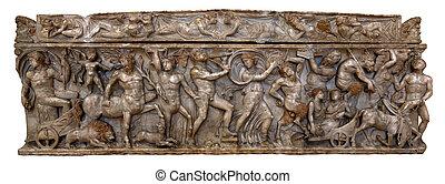 Greco-Roman marble sarcophagus